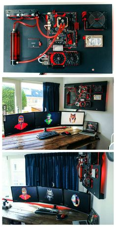 I just finished my wall mounted pc-build. What do you think guys? - 9GAG