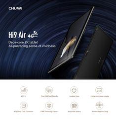 Original Box CHUWI Hi9 Air 64GB MT6797 X20 Deca Core 10.1 Inch 2K Screen Android 8 Dual 4G Tablet Sale - Banggood.com 4g Tablet, Samsung Camera, Buy Computer, Bluetooth Keyboard, Computer Network, Laptop Accessories, Dual Sim, Laptop Computers, Core