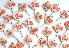 Vintage Store Price Tags