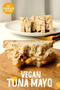 The classic sandwich filling made vegan with a realistic seafood flavour Egg Recipes, Vegan Recipes Easy, Vegetarian Recipes, Kitchen Recipes, Vegan Sandwich Filling, Healthy Sandwich Fillings, Sandwich Recipes, Vegan Afternoon Tea, Tuna Mayo