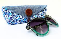 oversized sunglasses are very trendy, but it's hard to find a case for them or fit in your purse. make a custom case for you sunglasses that's lightweight