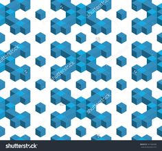 Isometric snowflakes out of blocks
