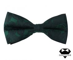 Papion elegant negru verde- gents-club.ro