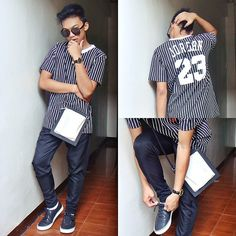 Master Mind Mnl Jordan 23 Shirt, Oxygen B&W Leather Sling Bag Outfit Posts, My Outfit, Jordan 23, Fashion Bags, Street, My Style, Leather, Shirts, Men