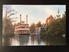 Vintage Disneyland Frontierland Postcard - Mark Twain Steamboat - Rivers of America by VintageDisneyana on Etsy