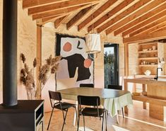 Amsterdam studio Crafted Works used Douglas fir to create this cabin's frame as well as the external wall studs and roof rafters. Acoustic Baffles, Vertical City, Cabin Crafts, Timber Cabin, Timber Structure, Construction, Cabin Design, House Design, Minimal Design