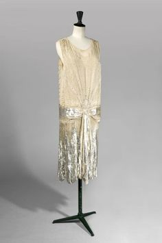 Evening Dress, 1920.  According to owner family tradition, the dress came from the House of Paul Poiret.