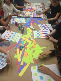 "We practiced weaving ""magic carpets"" in our After School Program! #art #kidsart #craft #weaving #finemotorskills #kids #recess"