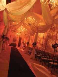 orange wedding decoration