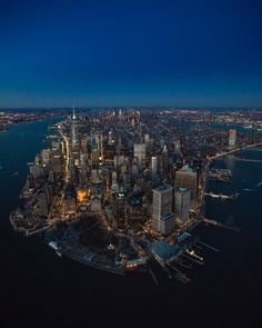 Above New York: Aerial View of Manhattan