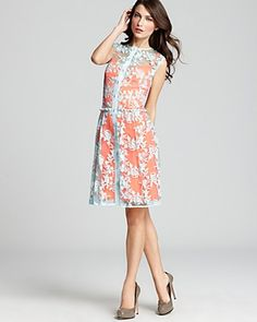 High Contrast colors w/ lace overlay...I must find something like this for spring/summer!