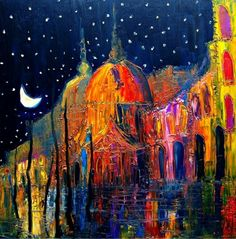 """""""Night"""" by Justyna Kopania was named Artist Become's most popular contemporary art piece in 2012. Fine art canvas reproductions available from ArtistBe.com. #Top10 #art #emergingartists"""