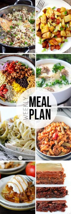 Menu Plan week 12 - Collaborative weekly meal planning. 8 bloggers. 6 meal ideas plus 2 desserts every single week equals one heck of a delicious menu!