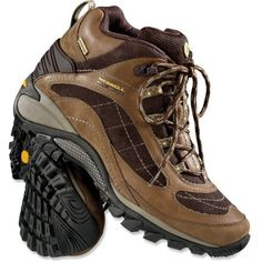 Merrell Siren Waterproof Mid Leather Hiking Boots - Women's- on top of my wish list since my old boots just disintegrated midway through a 13 mile hike-- thank goodness for duct tape to hold them together til the end!
