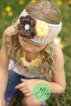 Girls Crochet Head Wrap - adorable for Sophie Girl!