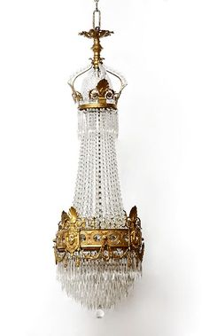 French Empire Bronze and Crystal Chandelier...$8,700.00
