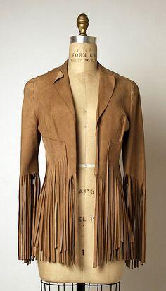 ~Fringed suede jacket, ca. 1966 ~
