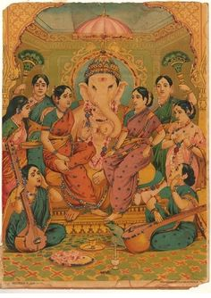 Lord Ganesha, Ravi Varma press