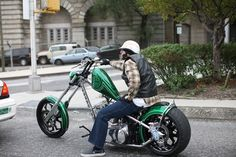 The Builder and his Bike Triumph Motorcycles, Triumph Chopper, Sportster Chopper, Chopper Motorcycle, Motorcycle Style, Jesse James Motorcycles, Motorcycle Vest, Custom Moped, Custom Choppers
