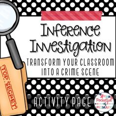 Pocketful of Primary: Inference Investigation: Turning My Classroom Into a Crime Scene! - A free inferencing detective investigation using caution tape. hands on project based learning Reading Workshop, Reading Skills, Teaching Reading, Reading Strategies, Guided Reading, Reading Response, Close Reading, Reading Room, Inference Activities