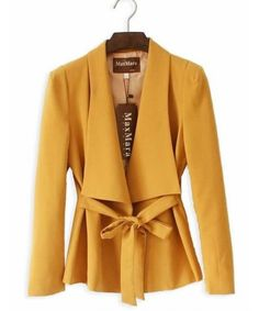 Mustard yellow adorable fall 2013 color trend coat