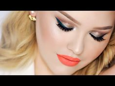 Just love Nikkie, try to recreate a more subtle version of: Taupe Smokey Eye with Teal Wing ⋆ Summer Party Makeup