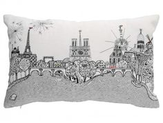 Decorative cushion / pillow: Paris calling By Charlene Mullen