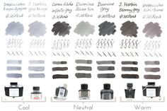 Gray Fountain Pen Ink Comparison - JetPens.com