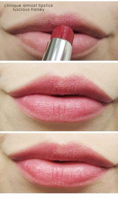 Clinique Almost Lipstick in Luscious Honey - the perfect color for almost every human being...looks fantastic, even if the rest of your face is naked.