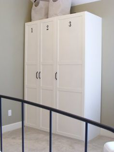 Personalizing Ikea Wardrobe! This would rock in our mudroom! I don't want to see what we are storing! #Christmas #thanksgiving #Holiday #quote