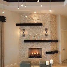 parete soggiorno rivestita in pietra | Living Room Decoration ...