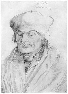 Albrecht Durer, Portrait of Erasmus of Rotterdam, 1520