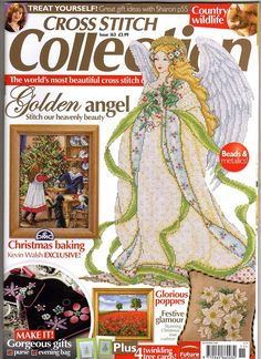 Cross Stitch Collection 163 2008 Golden Angel; Christmas Baking, squirrel (nice), Christmas Cards