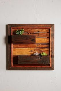 Simple Wall Planters Made From Pallets