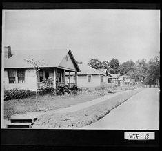 Photograph of mill houses, Dalton, Whitfield County, Georgia, ca. 1927-1933?