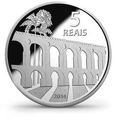 Moedas 5 Reais - Rio 2016 - Arcos da Lapa (anverso)