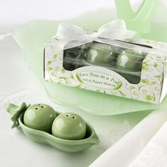 Two Peas in a Pod Salt and Pepper Shakers by Beau-coup