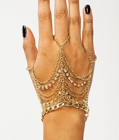 OFF THE CHAIN HAND BRACELET on Chiq http://www.chiq.com/chain-hand-bracelet