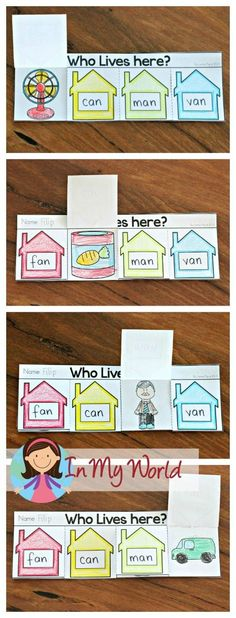 DIY and crafts DIY and crafts. Sight Words and Word Families Week 2 - In My World. Kindergarten Freebies, Kindergarten Language Arts, Kindergarten Reading, Sight Words, Rhyming Words, The Words, Word Family Activities, Cvc Word Families, Family Worksheet