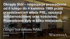 """""""Okrągły Stół (historia Polski)"""" på @Wikipedia:"""