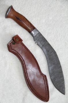 Custom Handmade Kukri Damascus Knife on Etsy, $250.00