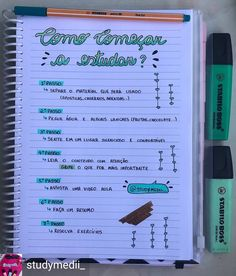 Reposted from @studymedii_ -  Vai começar a estudar e não sabe por onde começar? Aqui vai algumas dicas para te ajudar a criar uma método… Bullet Journal Planner, Bullet Journal School, Bullet Journal Ideas Pages, Lettering Tutorial, Mental Map, Study Organization, School Planner, School Study Tips, Study Planner