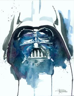 vader - Watercolor art by Brian Rood