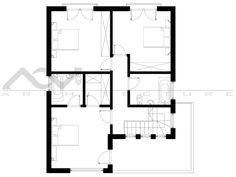 Model casa 195 Design Case, Web Design, House Plans, Floor Plans, How To Plan, Interior Design, Home, Home Architecture, House 2