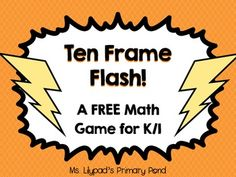 This FREE number sense game is great for 1st at the beginning of the year - it gives students practice/review in automatically identifying numbers in a ten frame.