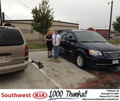 https://flic.kr/p/NtFkPh | #HappyAnniversary to Elizabeth and your 2012 #Chrysler #Town & Country from Gary Guyette Jr at Southwest KIA Rockwall! | www.deliverymaxx.com/DealerReviews.aspx?DealerCode=TYEE