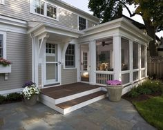 Porch Ideas (screened porch/deck on back of house)