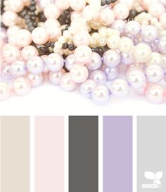 pearly tones... I like the charcoal/grey look with a soft pink/purple accent... that's vintage right? :-)