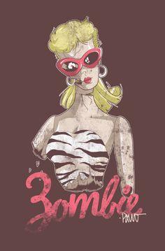 Zomie makeover on a barbie xxxxc lol