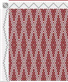 Weaving Draft Figure 671, A Handbook of Weaves by G. H. Oelsner, Germany, 1915, #34287